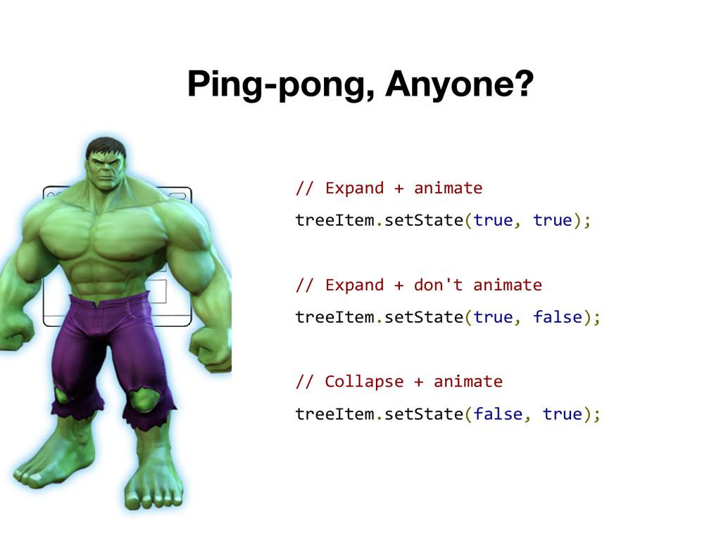 // Expand + animate treeItem.setState(true, tru...