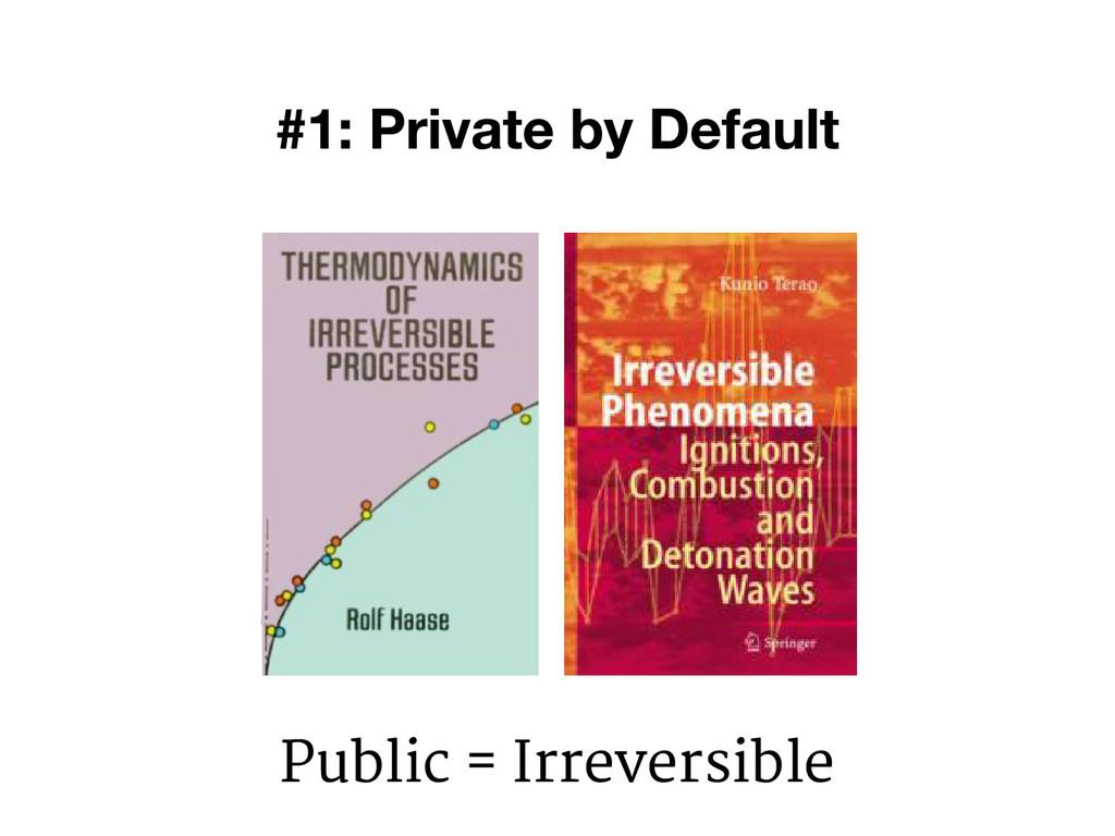 Public = Irreversible
