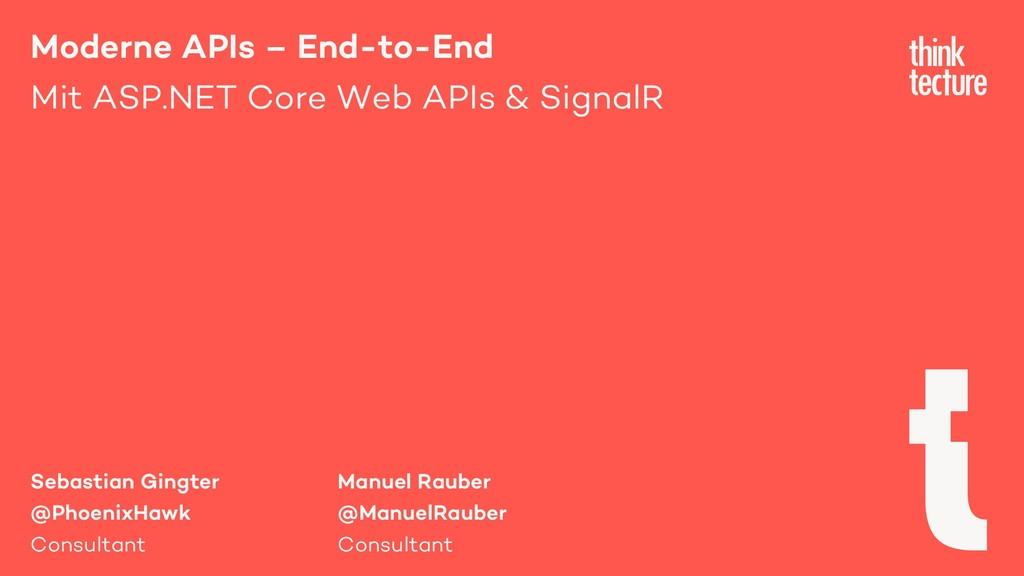 Moderne APIs – End-to-End Mit ASP.NET Core Web ...