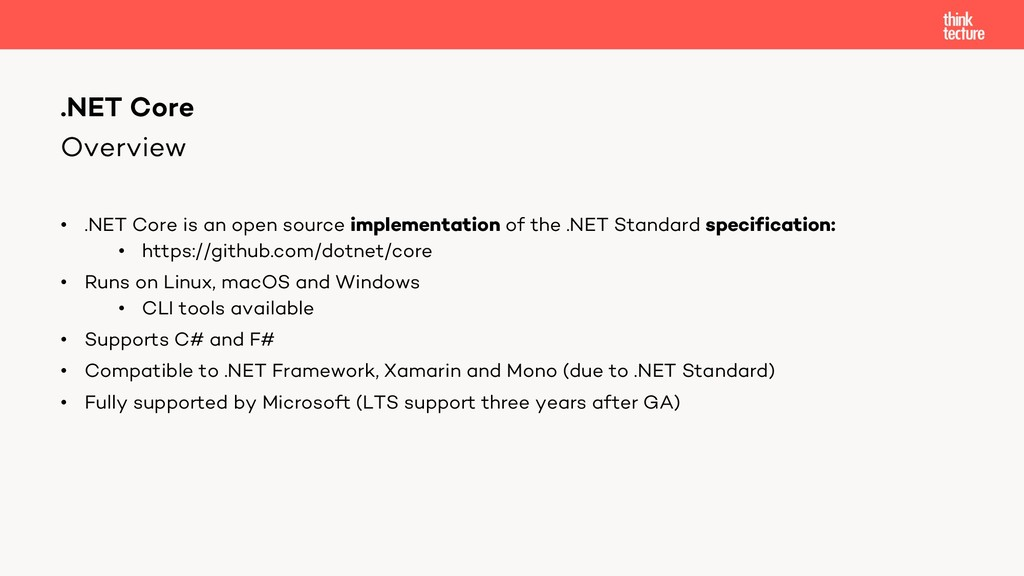 Overview • .NET Core is an open source implemen...