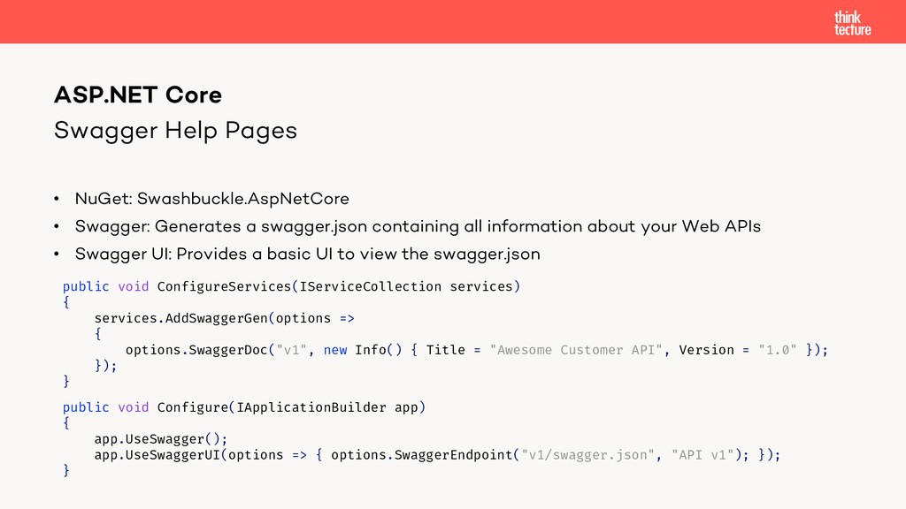 Swagger Help Pages • NuGet: Swashbuckle.AspNetC...