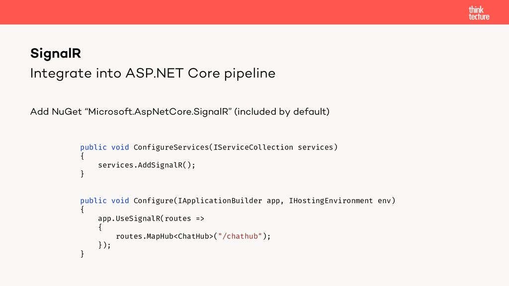 Integrate into ASP.NET Core pipeline Add NuGet ...