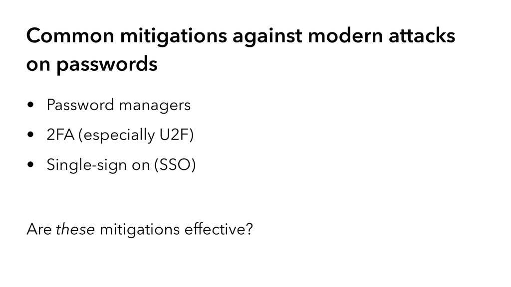 Common mitigations against modern attacks on pa...