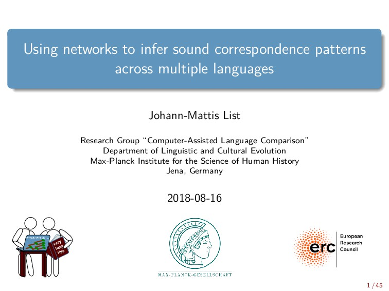 Using networks to infer sound correspondence pa...