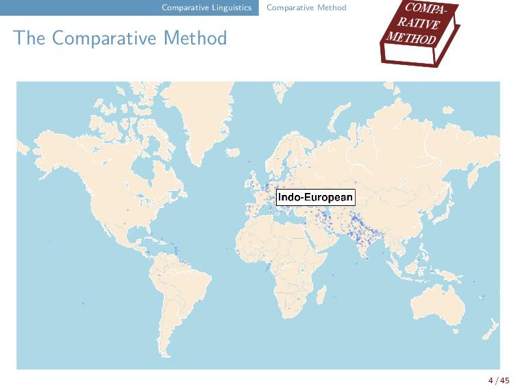 Comparative Linguistics Comparative Method The ...