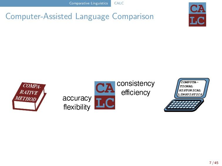 Comparative Linguistics CALC Computer-Assisted ...
