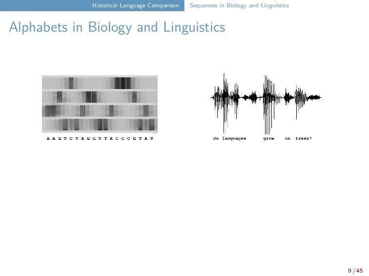 Historical Language Comparison Sequences in Bio...