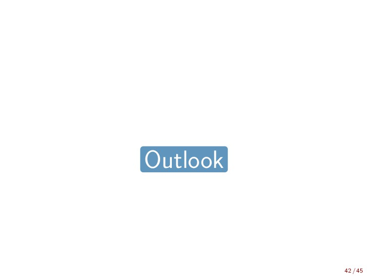 Outlook 42 / 45
