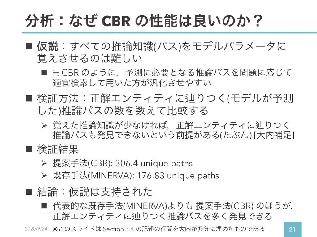 2020/9/24  ੳɿͳͥ CBR ͷੑྑ͍ͷ͔ʁ n Ծઆɿͯ͢ͷਪࣝ(...