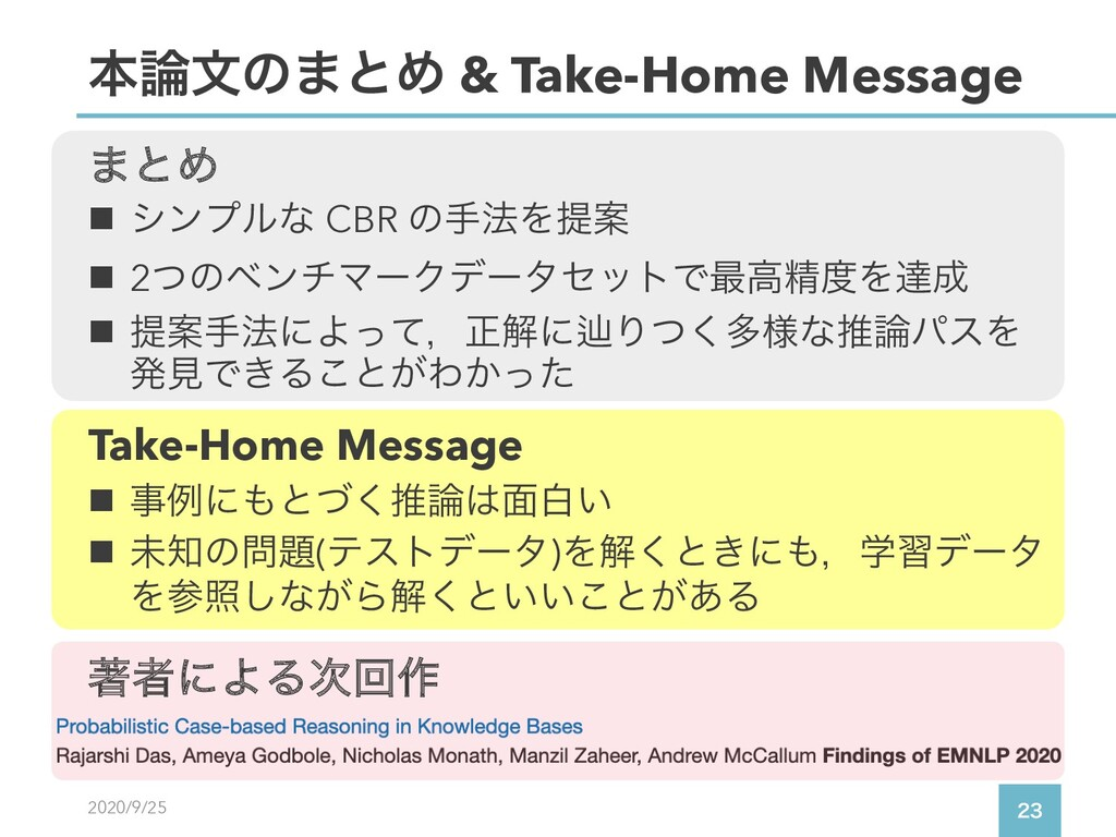 2020/9/25  ຊจͷ·ͱΊ & Take-Home Message n γϯϓϧ...