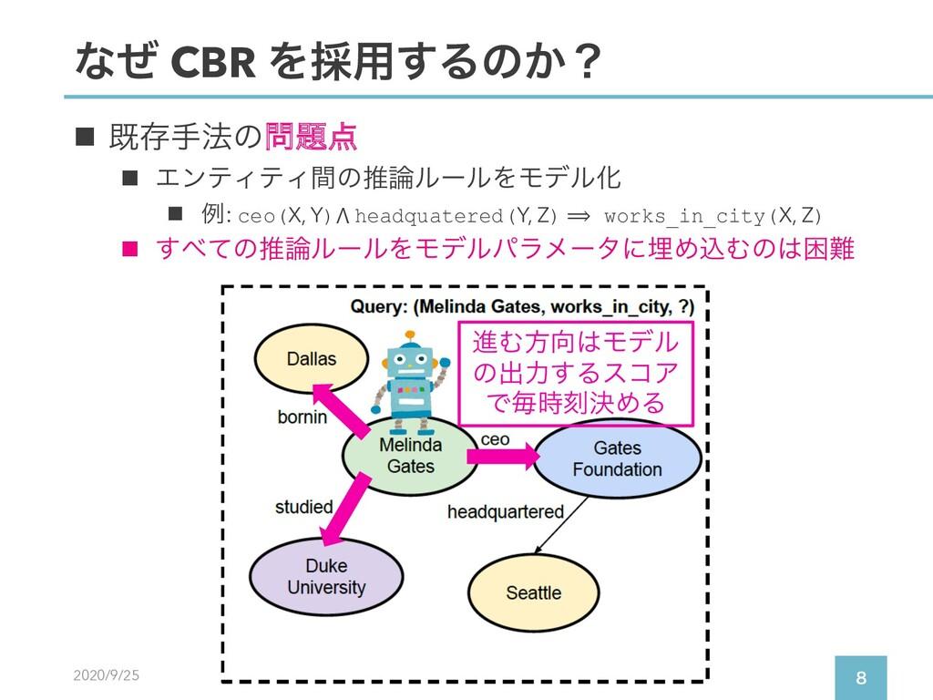 2020/9/25  ͳͥ CBR Λ࠾༻͢Δͷ͔ʁ n طଘख๏ͷ n ΤϯςΟςΟ...