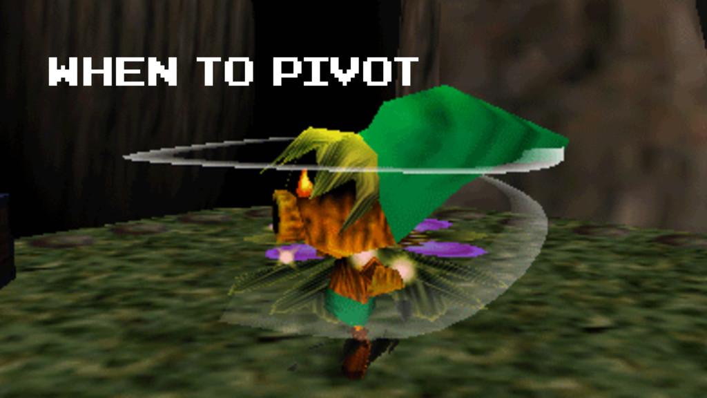 when to pivot