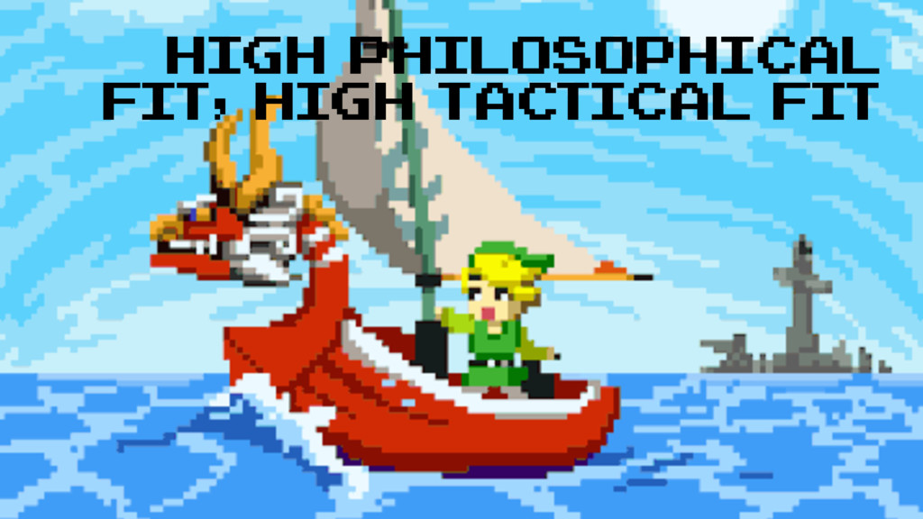 High philosophical fit, high tactical fit