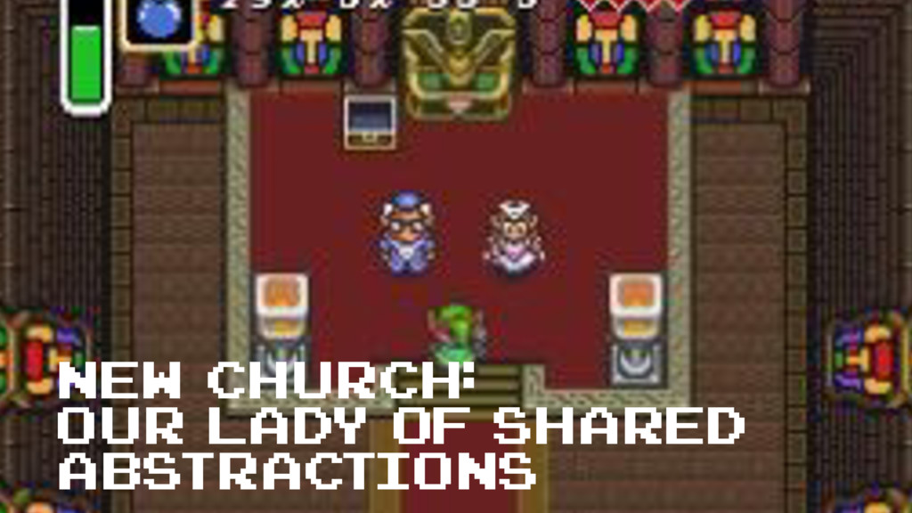 new church: Our Lady of Shared Abstractions