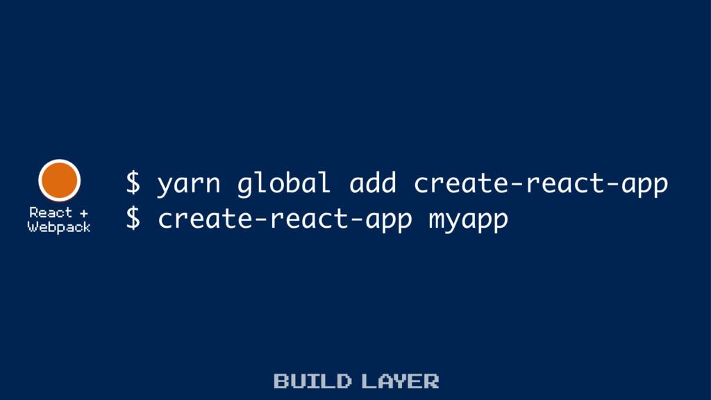 React + Webpack $ yarn global add create-react-...