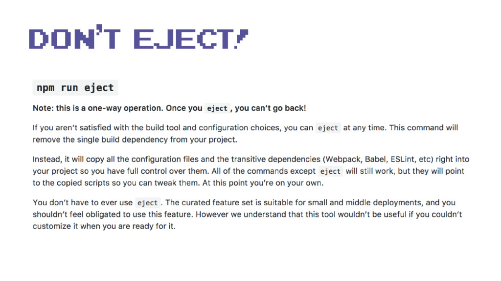 Don't eject!