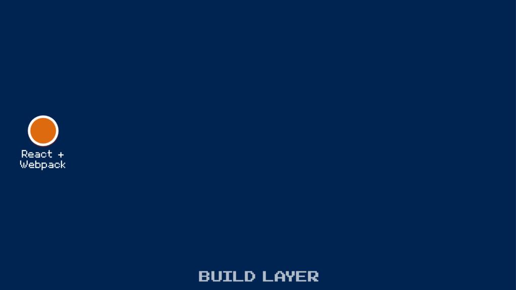 React + Webpack build layer