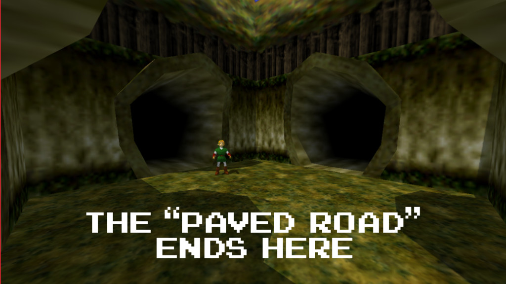 """the """"paved road"""" ends here"""