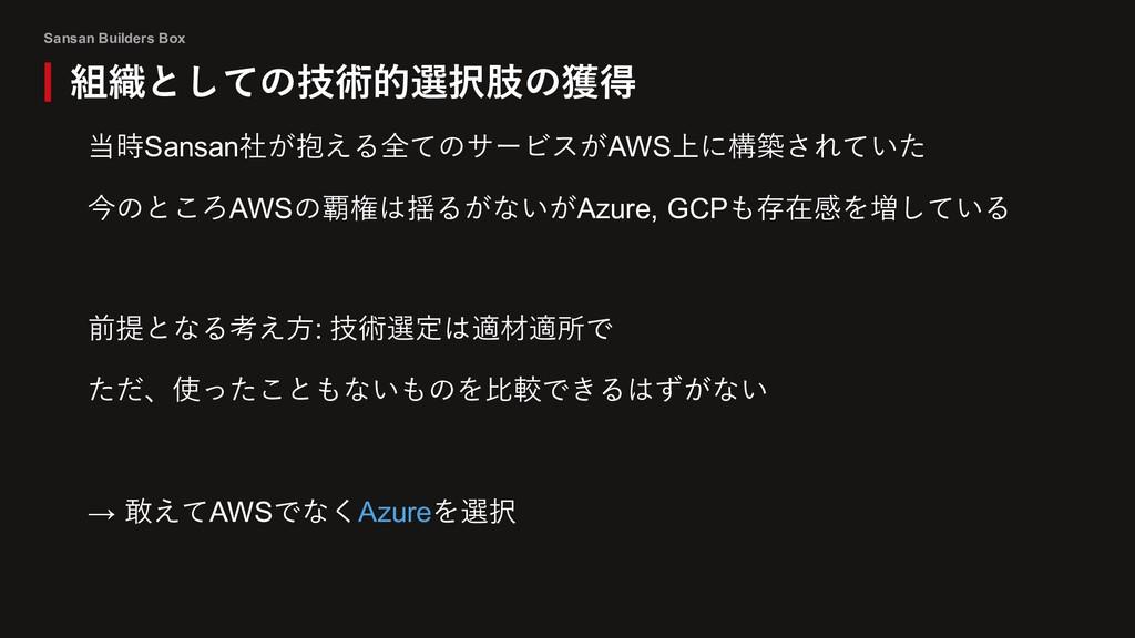 Sansan Builders Box 当時Sansan社が抱える全てのサービスがAWS上に構...