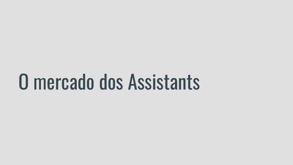 O mercado dos Assistants