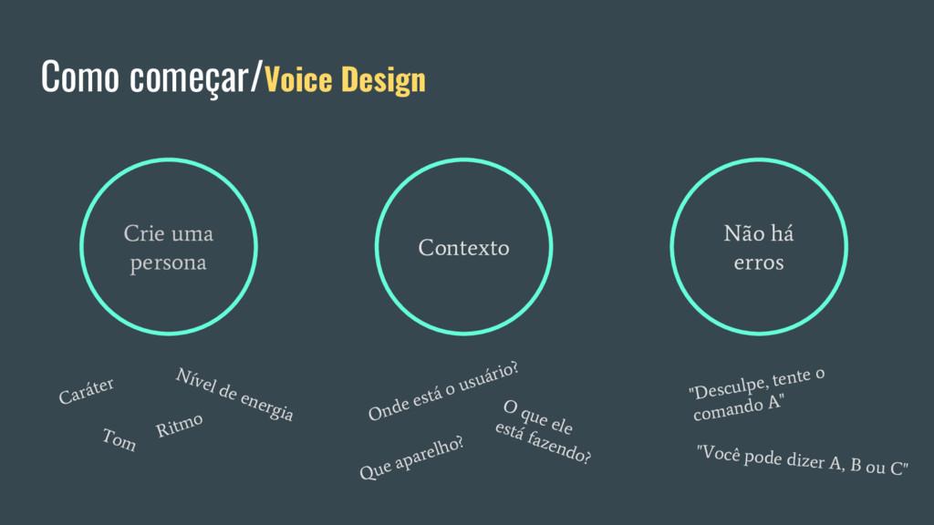 Como começar/Voice Design Crie uma persona Cont...