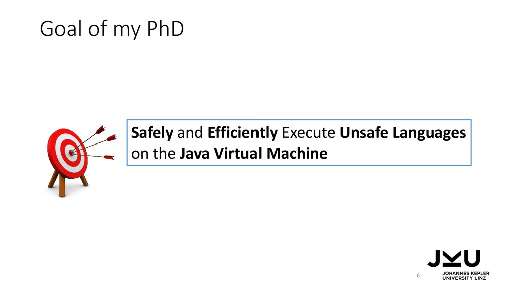 Goal of my PhD 6 Safely and Efficiently Execute...