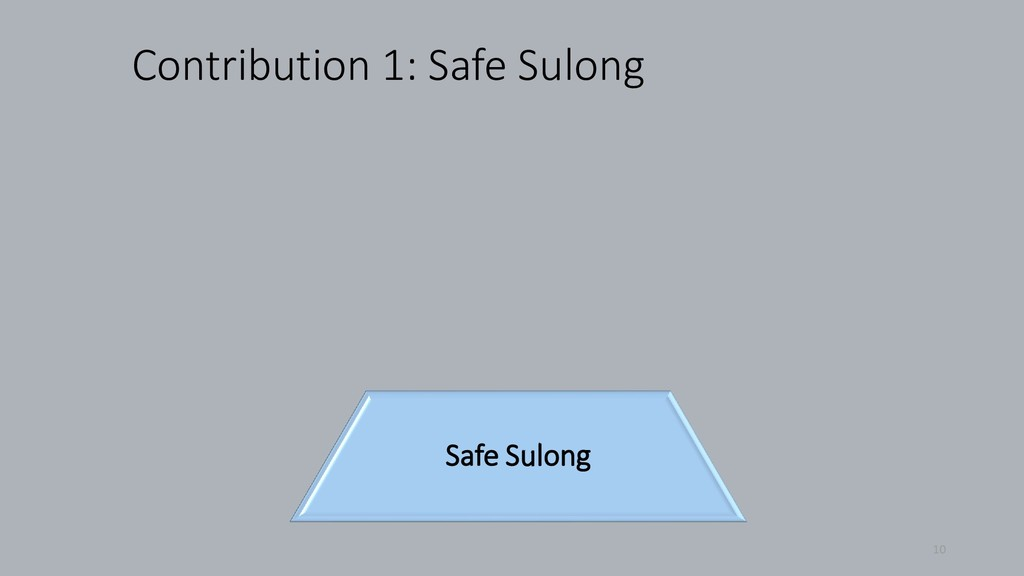 Contribution 1: Safe Sulong 10 Safe Sulong