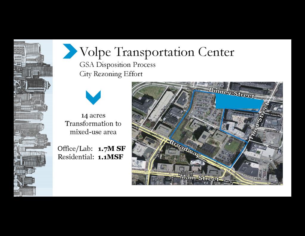 Volpe Transportation Center GSA Disposition Pro...