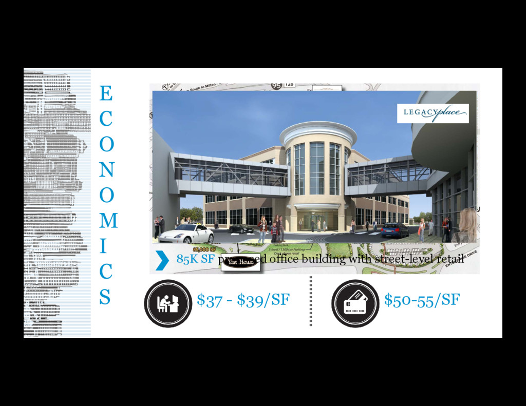85K SF proposed office building with street-lev...