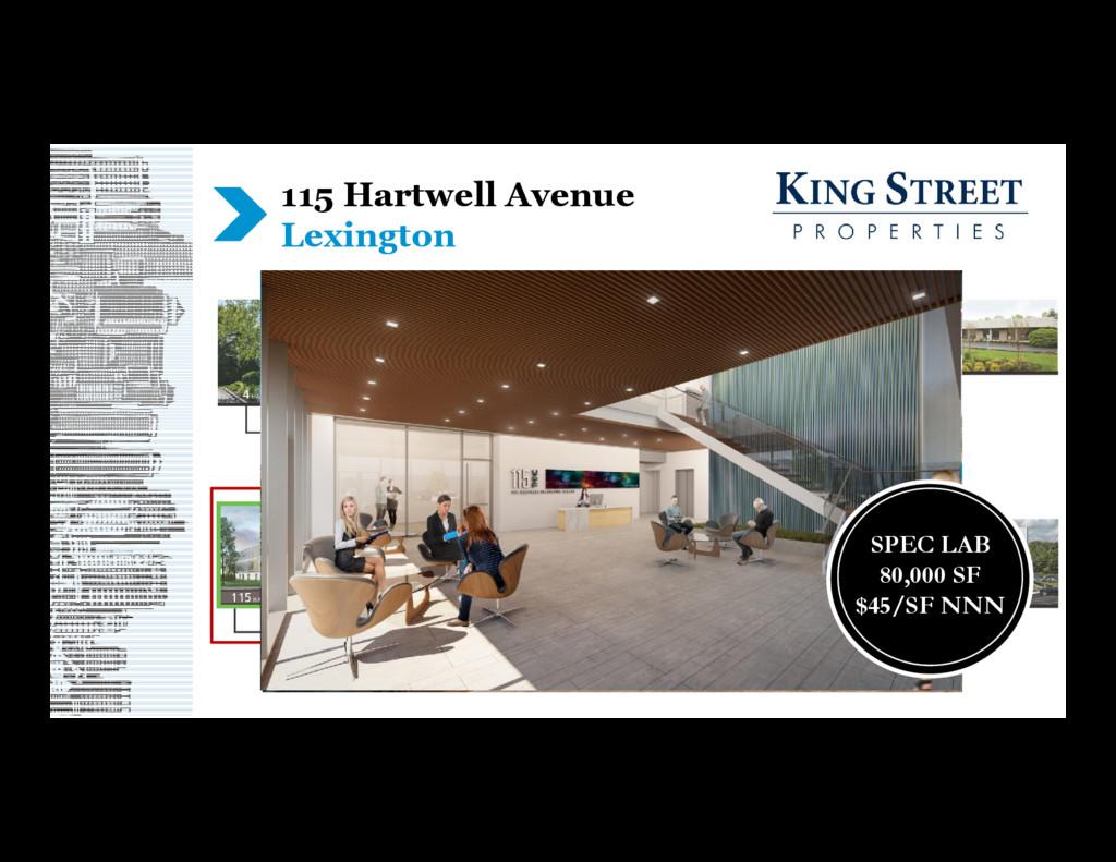 115 Hartwell Avenue Lexington SPEC LAB 80,000 S...