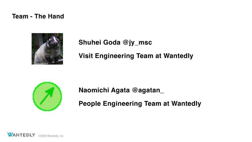 ©2020 Wantedly, Inc. Team - The Hand Shuhei God...
