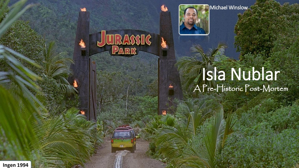 Isla Nublar A Pre-Historic Post-Mortem Ingen 19...