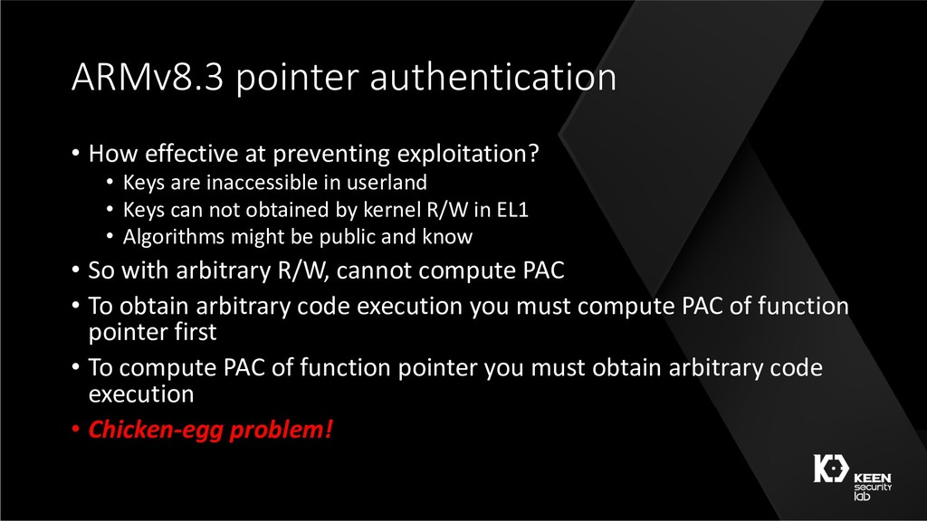 ARMv8.3 pointer authentication • How effective ...