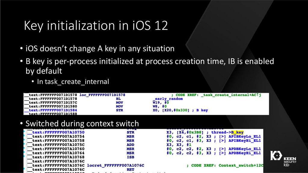 Key initialization in iOS 12 • iOS doesn't chan...