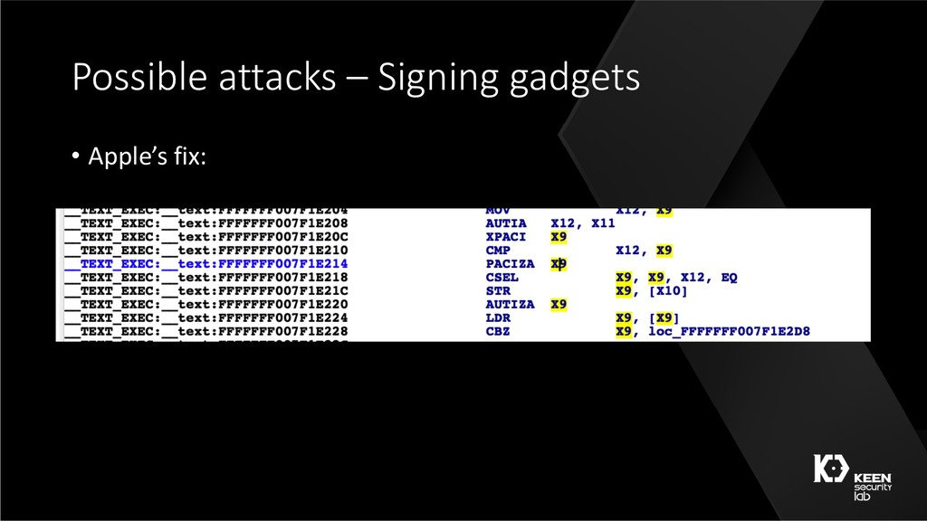 Possible attacks – Signing gadgets • Apple's fi...