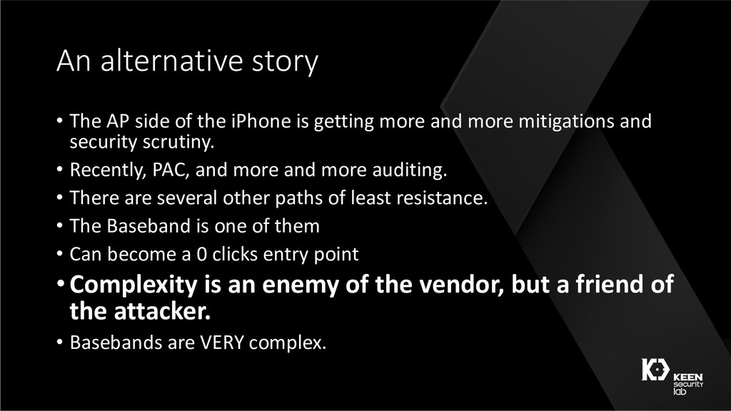 An alternative story • The AP side of the iPhon...