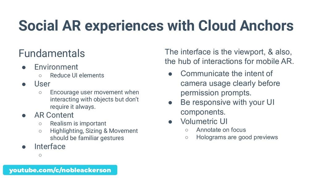 Social AR experiences with Cloud Anchors Fundam...
