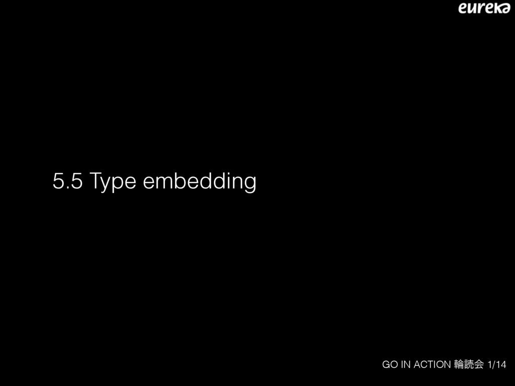 GO IN ACTION ྠಡձ 1/14 5.5 Type embedding