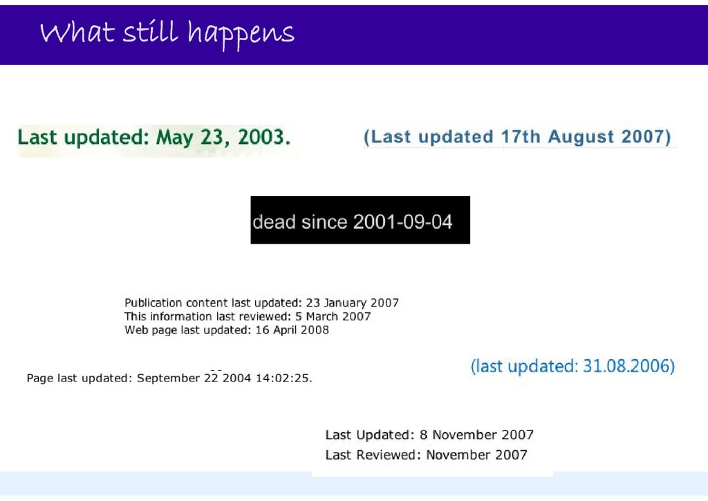What still happens