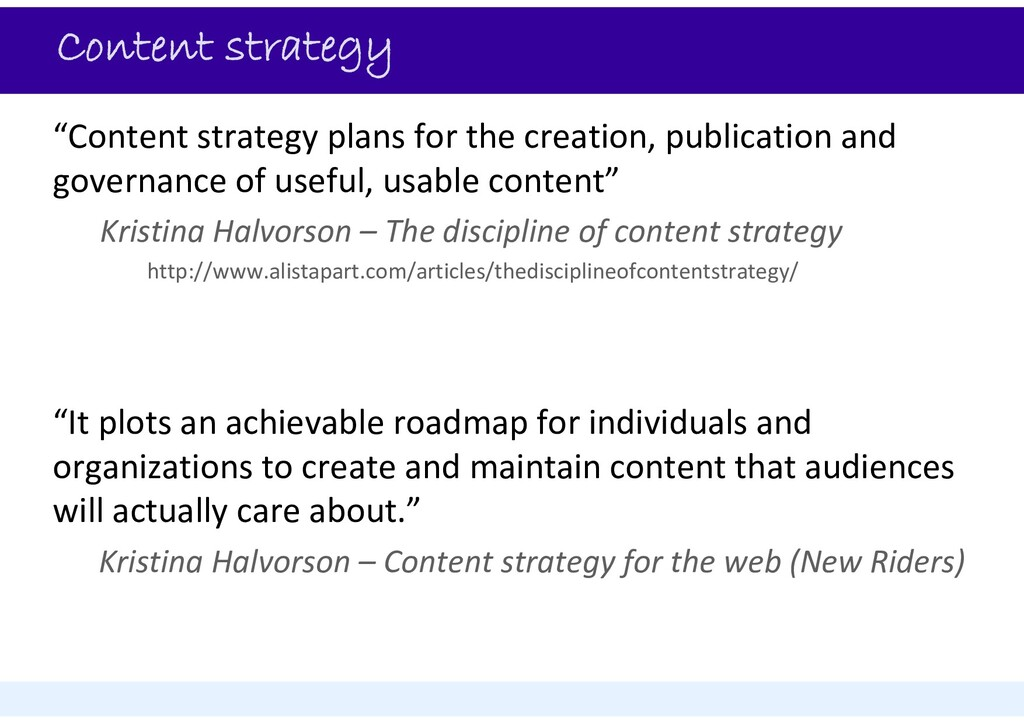 """Content strategy """"Content strategy plans for th..."""