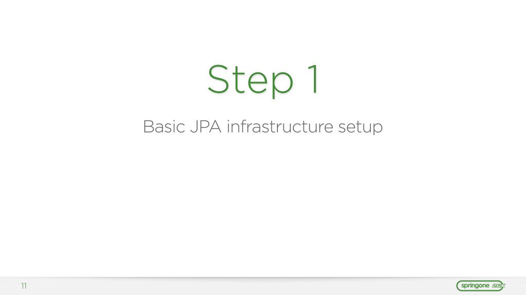 11 Step 1 Basic JPA infrastructure setup