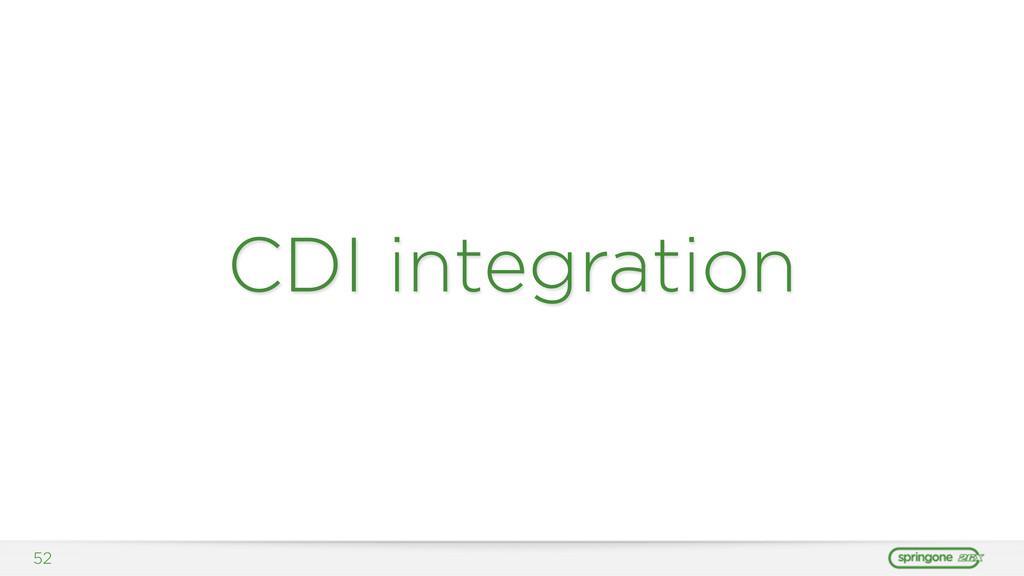 CDI integration 52