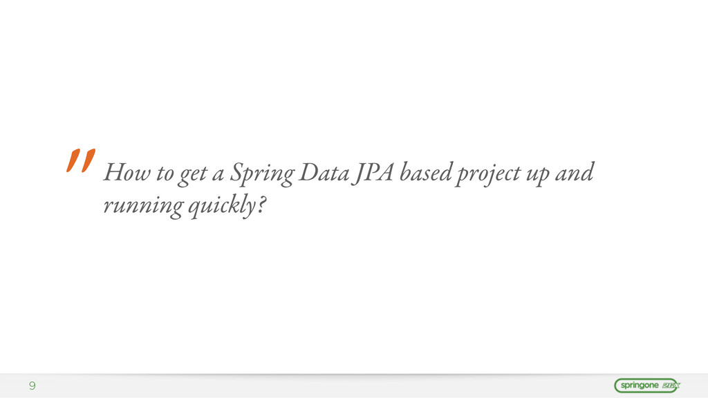 """9 """" How to get a Spring Data JPA based project ..."""