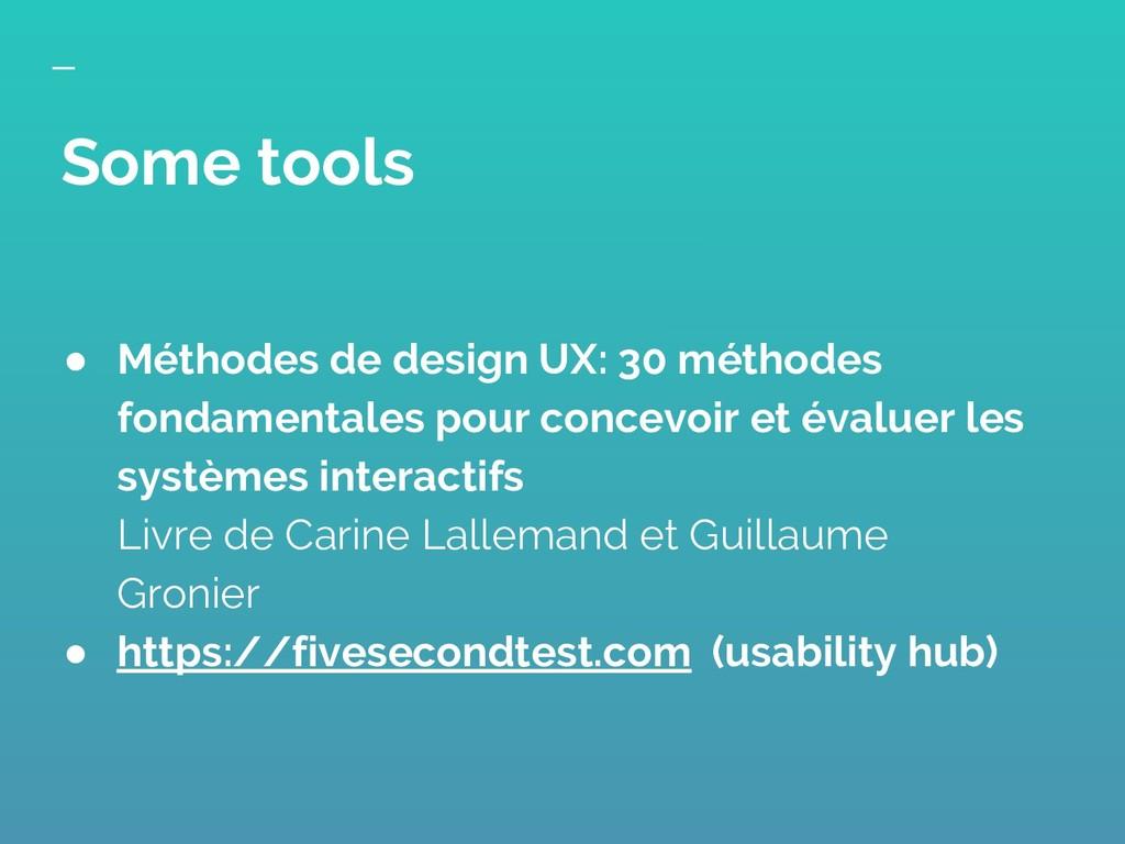 ● Méthodes de design UX: 30 méthodes fondamenta...