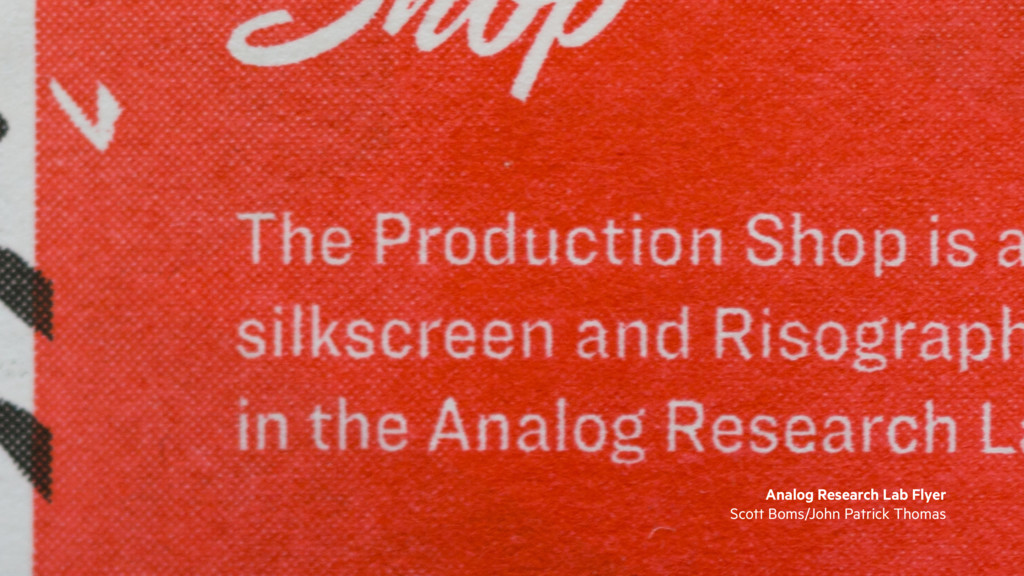 Analog Research Lab Flyer Scott Boms/John Patri...