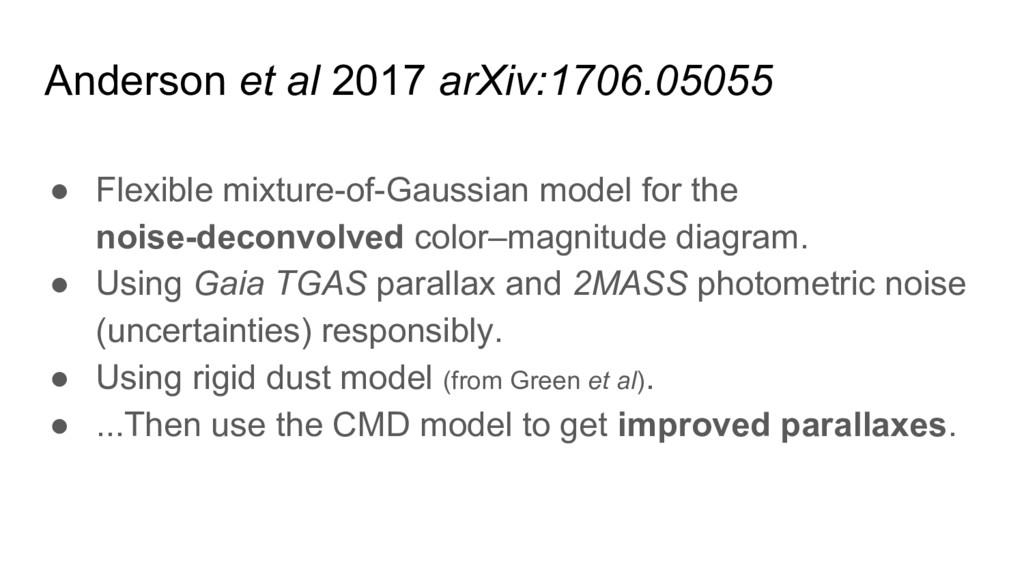 Anderson et al 2017 arXiv:1706.05055 ● Flexible...