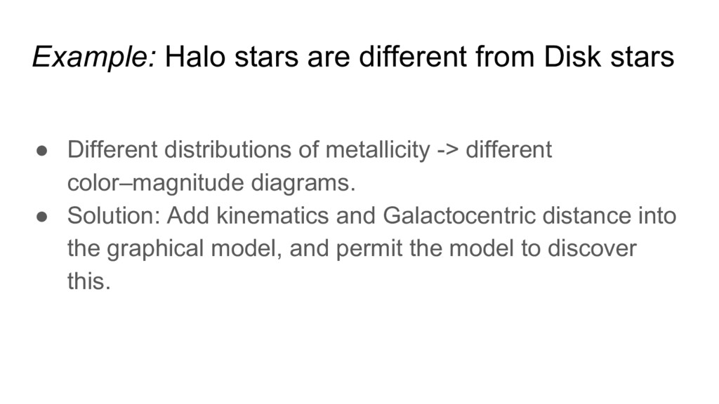 Example: Halo stars are different from Disk sta...