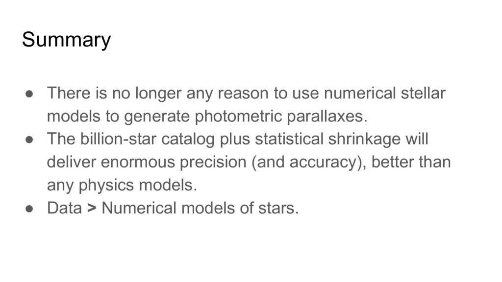 Summary ● There is no longer any reason to use ...