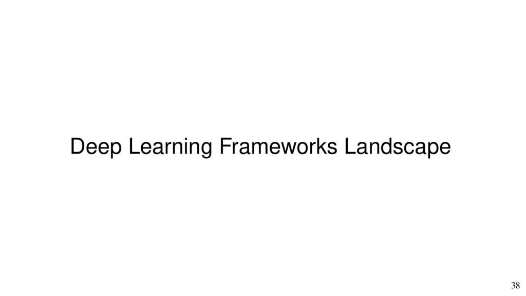 38 Deep Learning Frameworks Landscape
