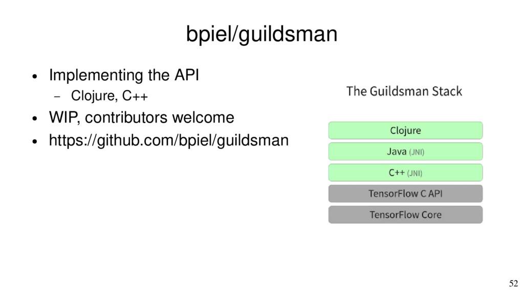 52 bpiel/guildsman ● Implementing the API – Clo...